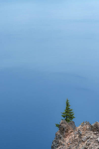 Crater Lake Photograph - Alone At Crater Lake by Joseph Smith