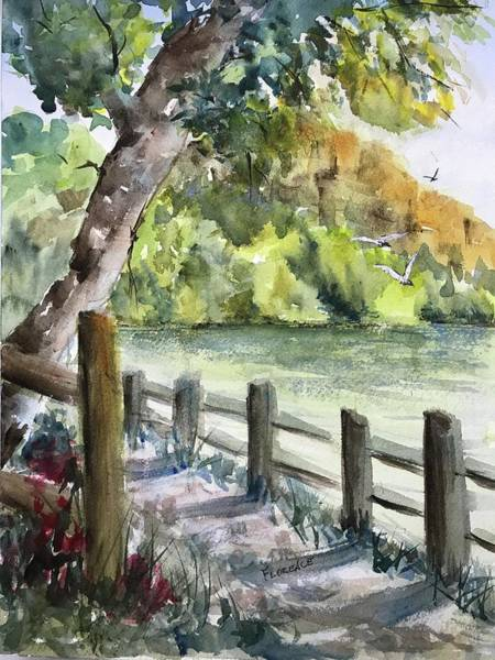 Painting - Along A Shady Path by Florence Ferrandino