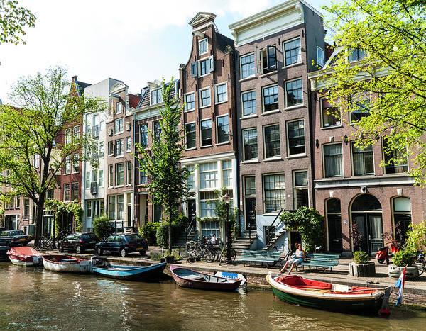 Photograph - Along An Amsterdam Canal by Paul Croll