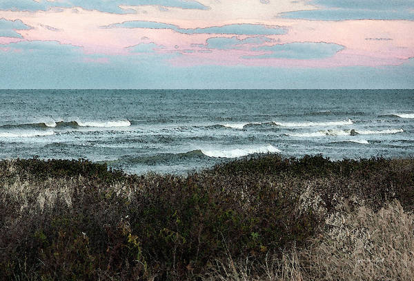 Wall Art - Photograph - Along Cape Cod II - Watercolor by Suzanne Gaff
