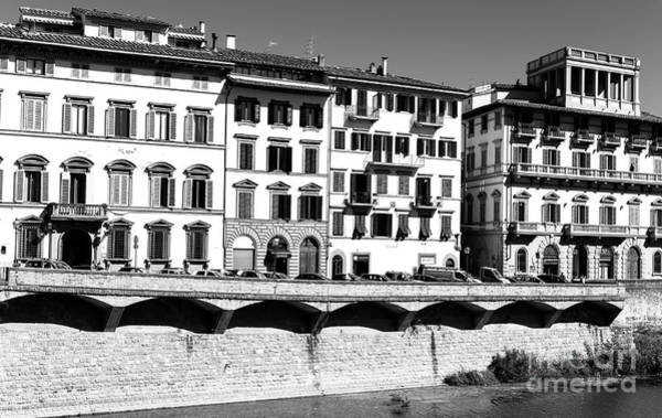 Photograph - Along Lungarno Delle Grazie In Florence by John Rizzuto