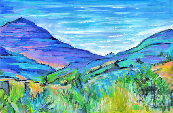 Painting - Along The Blue Basin Scenic Highway by Tanya Filichkin