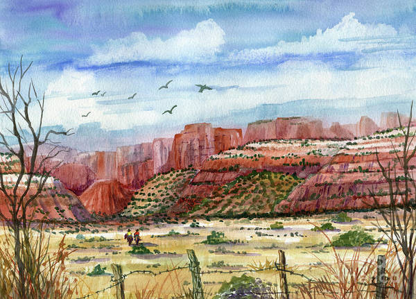 Smith Rock Painting - Along The New Mexico Trail by Marilyn Smith