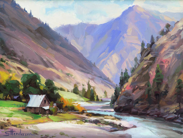 Painting - Along The Salmon River by Steve Henderson