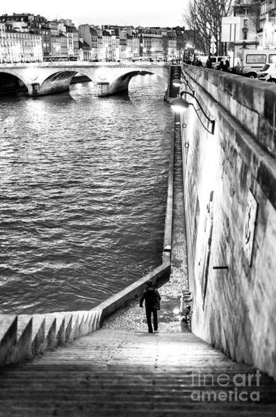 Photograph - Along The Seine At Night Paris by John Rizzuto