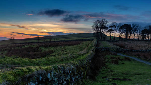 Northumbria Photograph - Along The Wall At Sunset by Nigel Jones