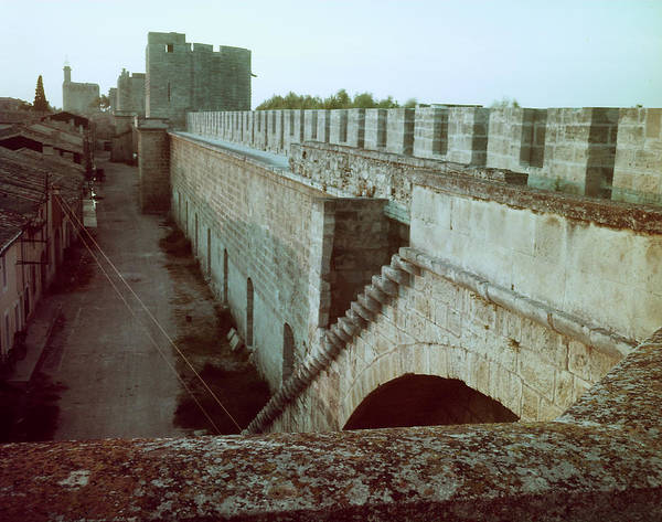 Fortified Wall Art - Photograph - Along The Walls Of Fortified Medieval Ci by Gjon Mili
