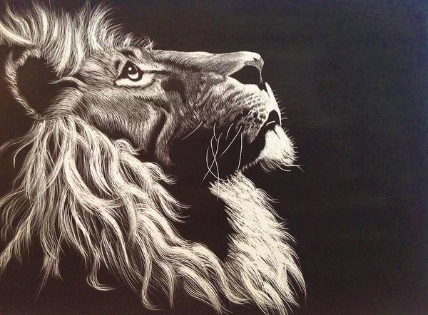 Wall Art - Painting - Aloofness Lion by ArtMarketJapan