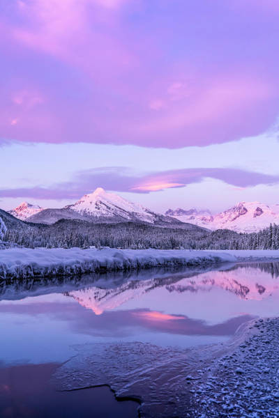 Wall Art - Photograph - Alpenglow Colours The Snow-covered by John Hyde