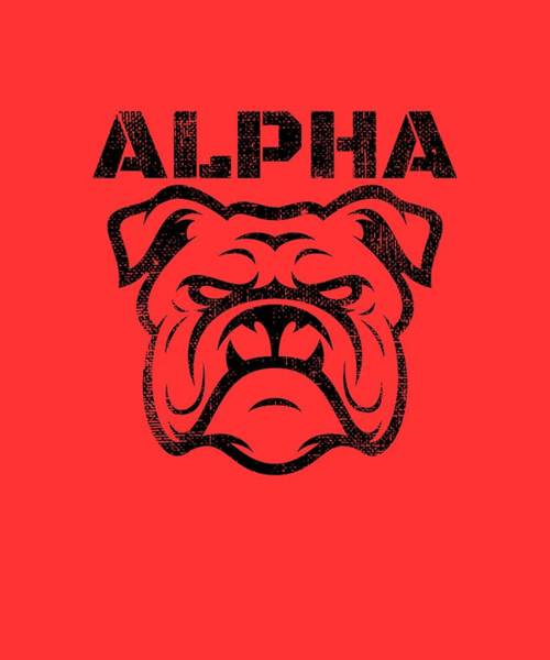 Powerlifting Digital Art - Alpha Bulldog by Chuck Basford