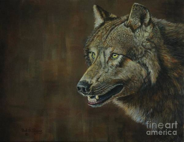 Painting - Alpha Male ......the Gray Wolf by Bob Williams
