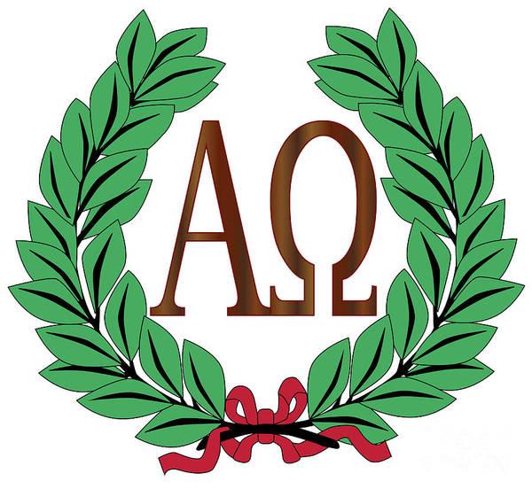 A To Z Digital Art - Alpha To Omega Wreath by Bigalbaloo Stock