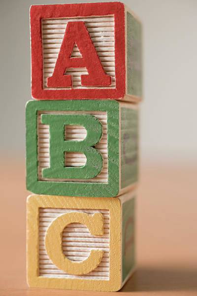 Photograph - Alphabet Building Blocks by Image Source