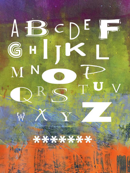 Wall Art - Mixed Media - Alphabet Rainbow by Nancy Merkle