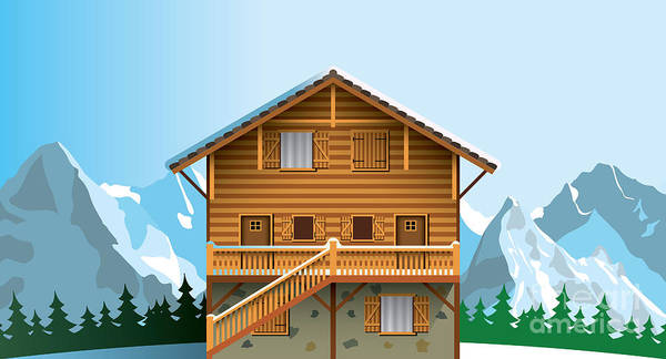 Wall Art - Digital Art - Alpine Chalet by Nikola Knezevic