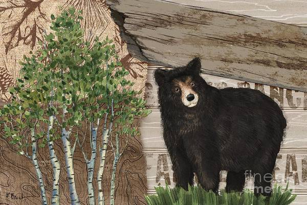 Wall Art - Painting - Alpine Collage Iv - Black Bear by Paul Brent