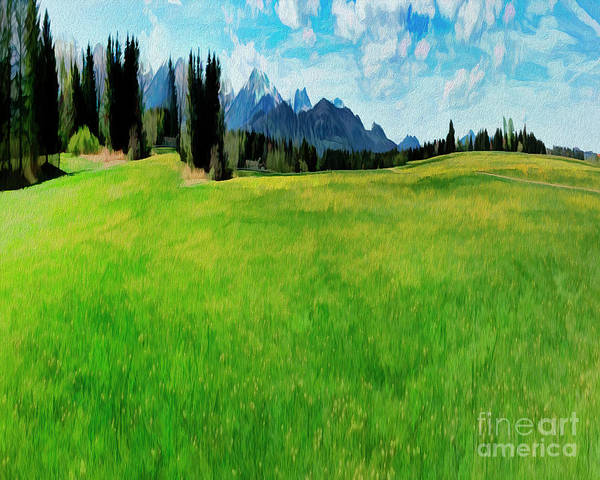 Digital Art - Alpine Green by Edmund Nagele