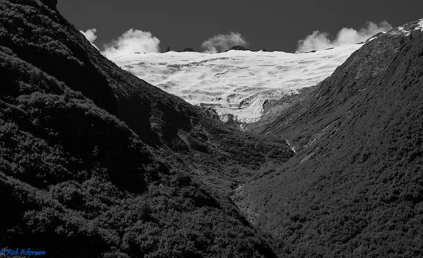 Photograph - Alpine Hanging Glacier  And New Growth U Shaped Vally by Rich Ackerman