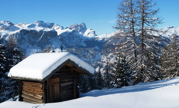 Wall Art - Photograph - Alpine Hut In Winter by Madhadders