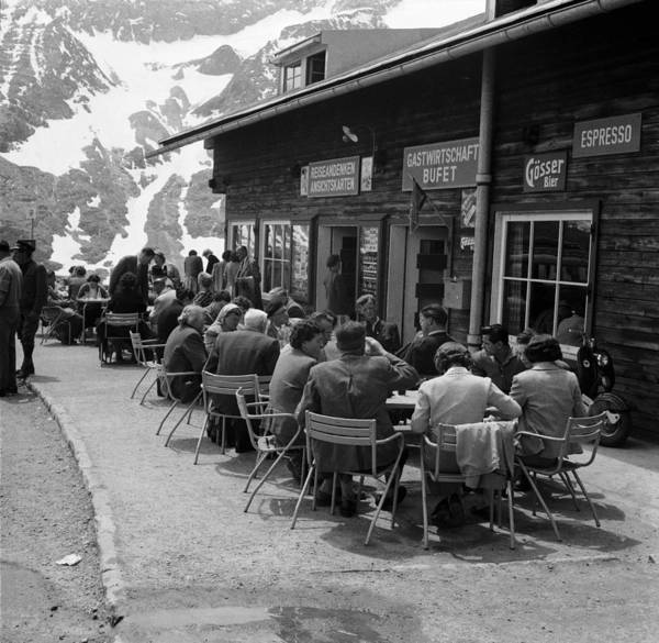 Sidewalk Cafe Photograph - Alpine Inn by Three Lions