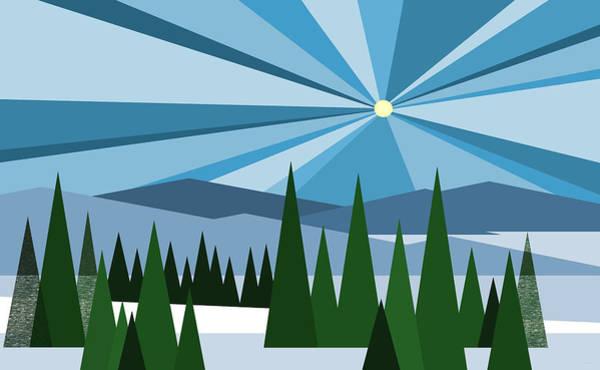 Digital Art - Alpine Winter by Val Arie