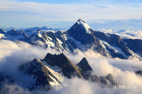 Wall Art - Photograph - Alps Alpine Landscape Of Mountain Cook by Vichie81