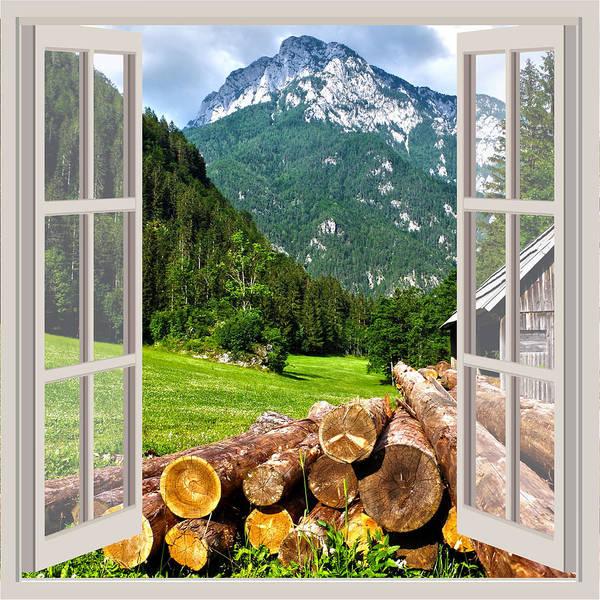 Pine Valley Digital Art - Alps And Barn by Carlos V