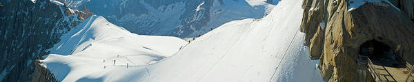 Wall Art - Photograph - Alps Mountaineers Setting Off Into High by Fotovoyager