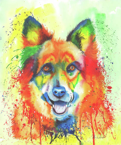 Painting - Alsatian Sensation by Peter Williams