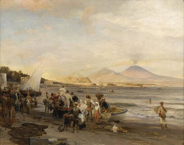 1875 Digital Art - also known as On the Beach of Naples by Brahaman Dhumsi