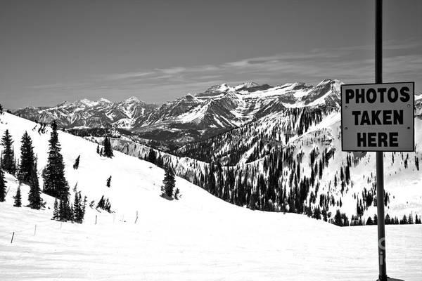 Photograph - Alta Snowbird Photos Taken Here Black And White by Adam Jewell