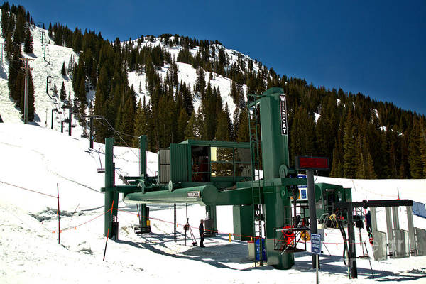 Photograph - Alta Wildcat Chairlift by Adam Jewell