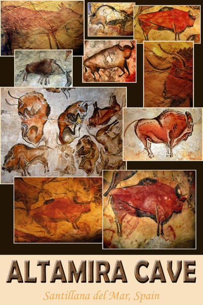 Photograph - Altamira Cave Art by Andrew Fare