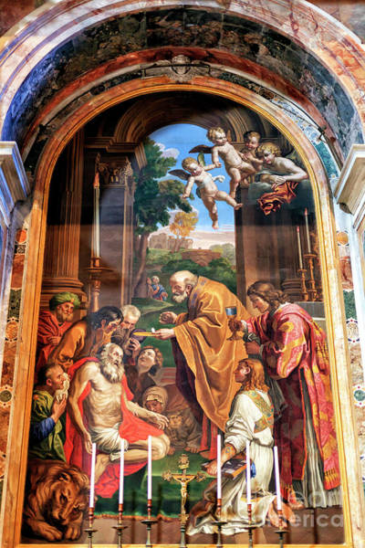 Photograph - Altar Of Saint Jerome At Saint Peter's Basilica In Vatican City by John Rizzuto