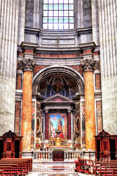 Photograph - Altar Of Saint Joseph At Saint Peter's Basilica In Vatican City by John Rizzuto