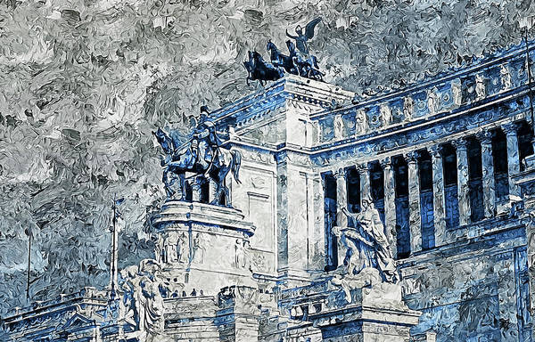 Painting - Altar Of The Fatherland, Rome - 04 by Andrea Mazzocchetti