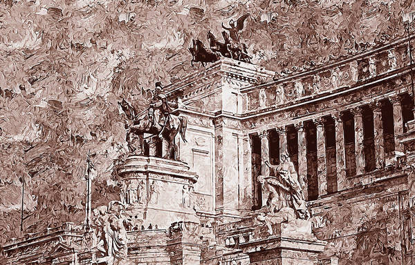 Painting - Altar Of The Fatherland, Rome - 05 by Andrea Mazzocchetti