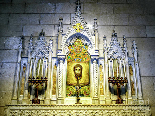 Photograph - Altar Of The Holy Face At St. Patrick's Cathedral In New York City by John Rizzuto