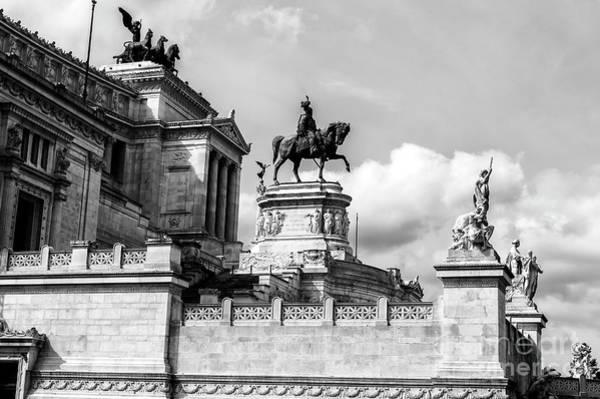 Photograph - Altare Della Patria In Rome by John Rizzuto