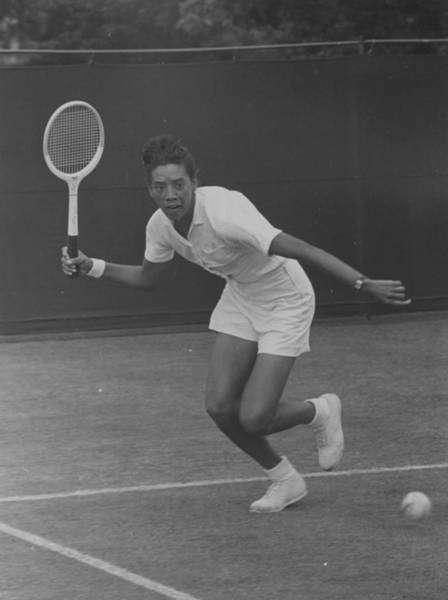 Tennis Photograph - Althea Action by Bert Hardy