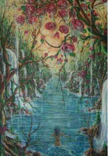 Wall Art - Painting - Althea And The River by Eran Habusha