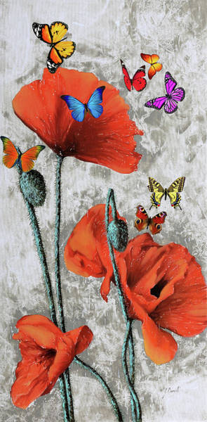 Many Wall Art - Painting - Altre Farfalline by Guido Borelli