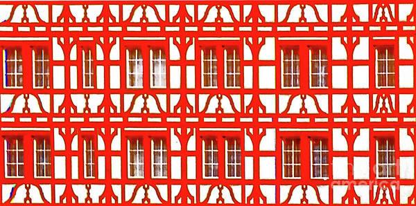 Photograph - Altstadt  Old Town Lucerne Swiss Windows  by Tom Jelen