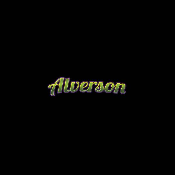 Wall Art - Digital Art - Alverson #alverson by TintoDesigns
