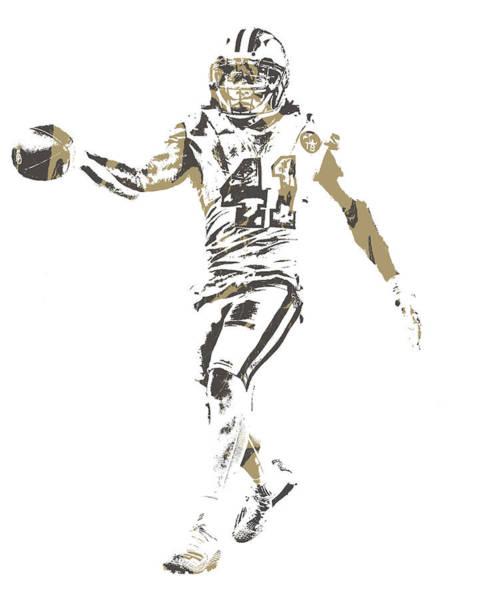 Catholic Mixed Media - Alvin Kamara New Orleans Saints Pixel Art 10 by Joe Hamilton