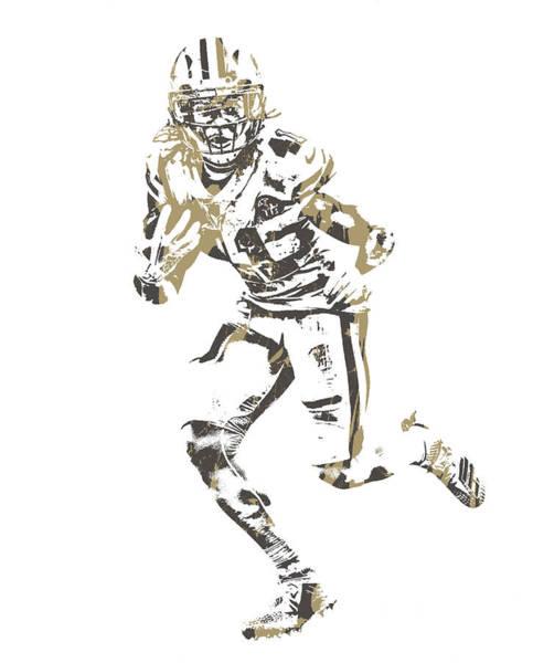 Catholic Mixed Media - Alvin Kamara New Orleans Saints Pixel Art 11 by Joe Hamilton