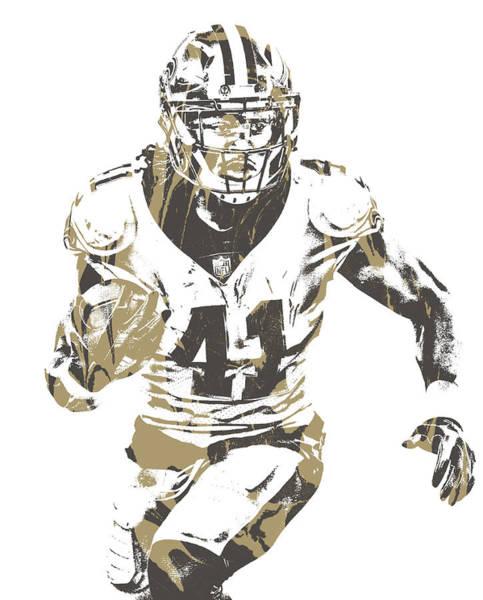 Catholic Mixed Media - Alvin Kamara New Orleans Saints Pixel Art 12 by Joe Hamilton