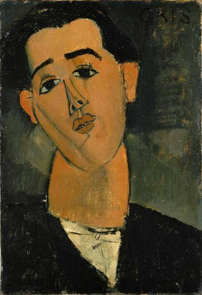 Wall Art - Painting - Amadeo Modigliani, Portrait Of Juan Gris by Celestial Images