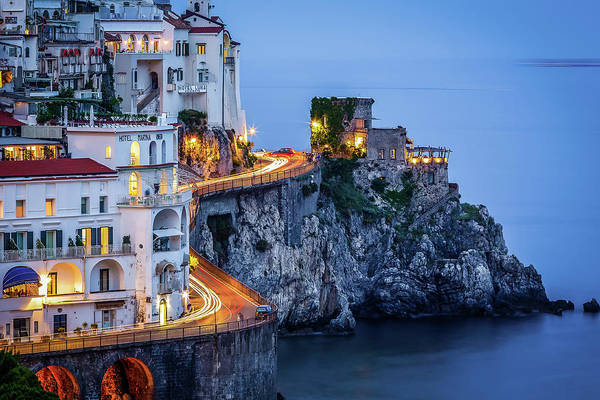 Photograph - Amalfi Coast Italy Nightlife by Nathan Bush