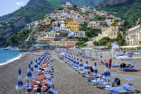 Photograph - The Colorful Beaches And Village Of Amalfi Italy by Robert Bellomy